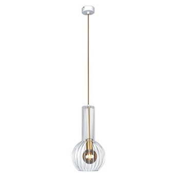 Biało-złota loftowa lampa wisząca - S134-Morta