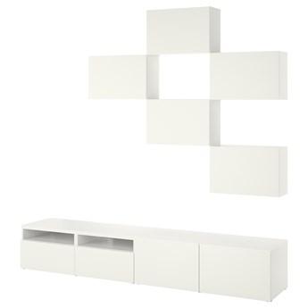 IKEA BESTÅ Szafka pod TV, Biały/Lappviken, 240x42x230 cm
