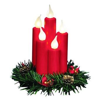 Świecznik stołowy czerwony HANNA 8056,100 Markslojd