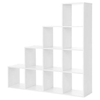 SELSEY Regał schodkowy Therically 4x4 biały