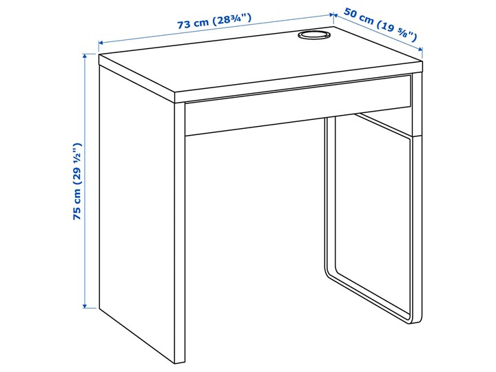 IKEA MICKE/ÖRFJÄLL / KALLAX Kombinacja biurko/szafka, i krzesło obrotowe biały/niebieski/czarny Kategoria Zestawy mebli do sypialni