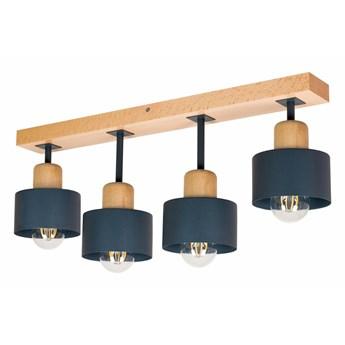 Lampa sufitowa DAN60x7BU buk antracytowa 4xE27