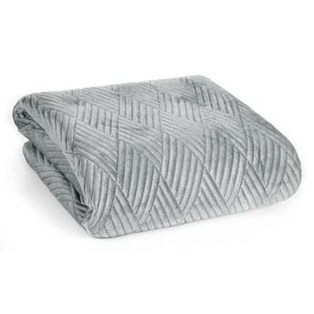 Narzuta na łóżko srebrna 220X240