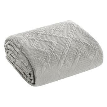 Narzuta na łóżko srebrna 200X220