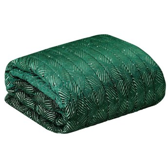 Narzuta na łóżko ciemny zielony 220X240
