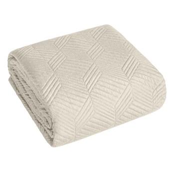 Narzuta na łóżko kremowa 200X220