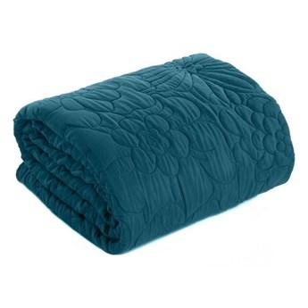 Narzuta na łóżko niebieska 200X220