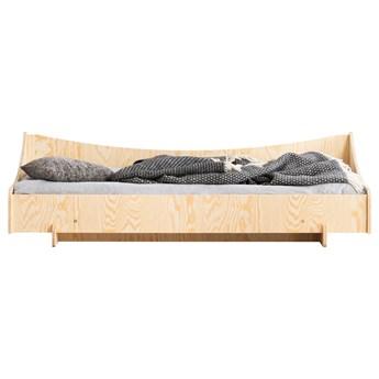 SELSEY Łóżko drewniane dla dziecka Kyori z jedną barierką