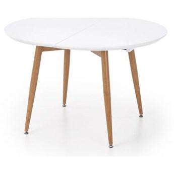Stół EDWARD 120(200)x100 biały/dąb san remo rozkładany HALMAR