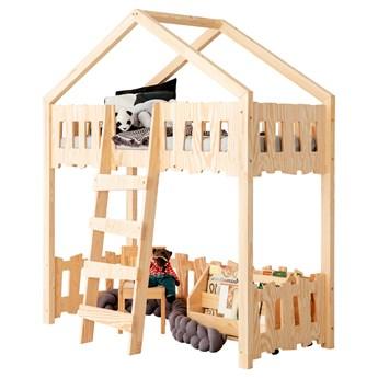 SELSEY Łóżko domek dla dzieci Gella piętrowe antresola