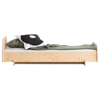 SELSEY Łóżko drewniane dla dziecka Kyori na podwyższeniu