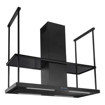 Okap wyspowy Centropolis Elite Glass Black Matt 180 cm