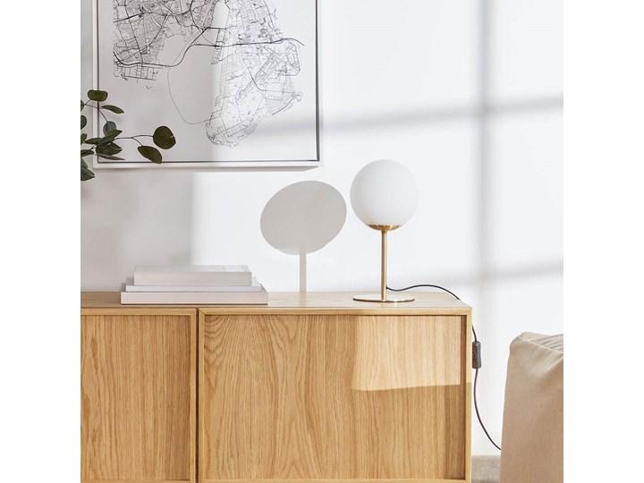 Lampa stolowa Mahala ze stali i szkla matowego Lampa z kloszem Kolor Złoty