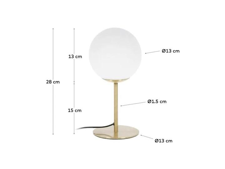 Lampa stolowa Mahala ze stali i szkla matowego Kategoria Lampy stołowe Lampa z kloszem Kolor Szary