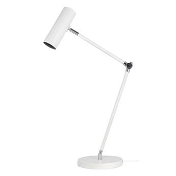 Metalowa lampa biurkowa tuba Hubble biała