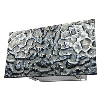 Okap kominowy Flexi Frost Silver 80 cm