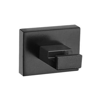 Czarny matowy haczyk na ręcznik łazienkowy ENIGMA  mat