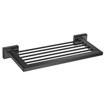 Czarna matowa półka łazienkowa ENIGMA