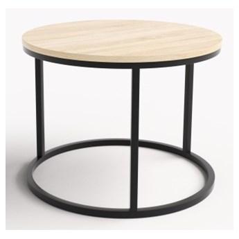 Okrągły stolik kawowy do salonu Jumo czarny stelaż