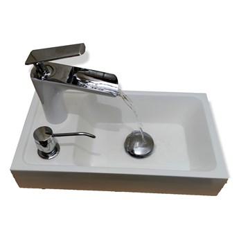 Umywalka łazienkowa z lanego marmuru - Fado