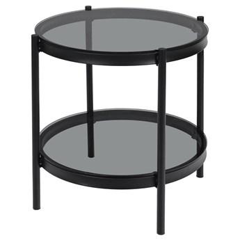 SELSEY Stolik szklany Shass okrągły średnica 45 cm czarny