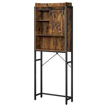 SELSEY Regał łazienkowy Frishman 170 cm z przesuwanymi drzwiczkami