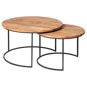 SELSEY Zestaw stolików okrągłych Paikauhale w stylu industrialnym