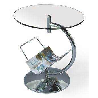 SELSEY Stolik kawowy Manga z transparentnym blatem ze szkła