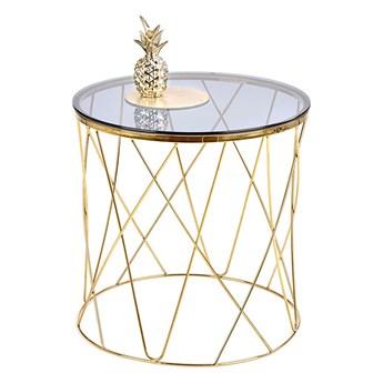 SELSEY Stolik kawowy Monck w stylu glamour średnica 55 cm złoty