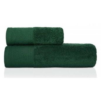 Ręcznik frotte MASSIMO zielony z przędzy egipskiej, żakardowa 100% bawełna bordiura, 70x140 cm