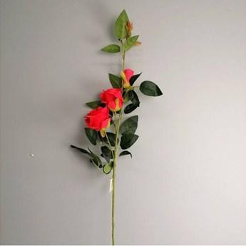 Róża bogata gałązka, kolor koralowy 95 cm
