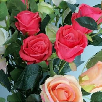 Róża bogata gałązka, kolor czerwony 95 cm