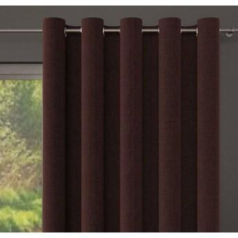Zasłona DANUSIA na przelotkach, splot natural, kolor brązowy 150x250 cm, Z545 Nie