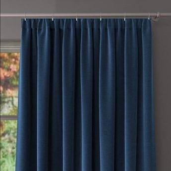 Zasłona DANUSIA z taśmą marszczącą, splot natural, kolor niebieski 175x250 cm, Z543 Nie