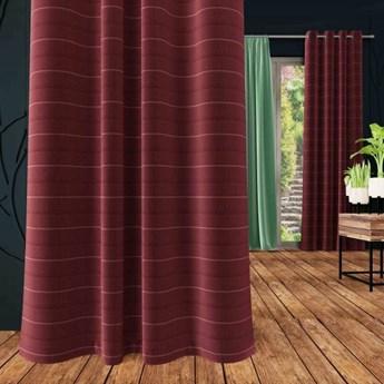 Zasłona DANUSIA na przelotkach, splot natural, kolor c.fiolet 175x250 cm, Z548 Nie