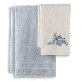 Komplet ręczników łazienkowych jasny niebieski 50x90+70x140