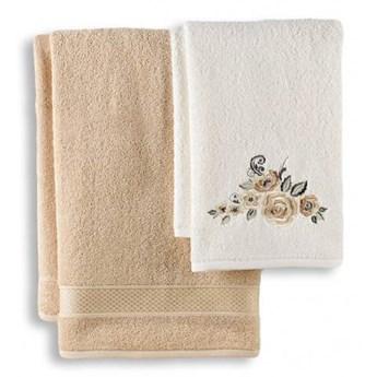 Komplet ręczników łazienkowych beż 50x90+70x140
