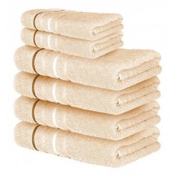 Ręcznik frotte DOL beżowy 100% bawełna 50x90 cm