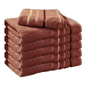 Ręcznik frotte DOL brązowy 100% bawełna 50x90 cm