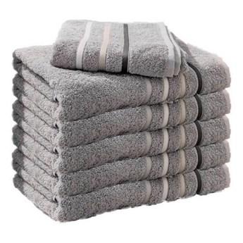 Ręcznik frotte DOL szary 100% bawełna 50x90 cm