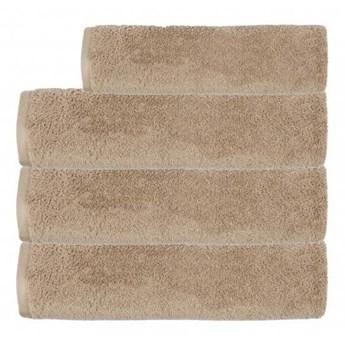 Ręcznik frotte EMI ciemny beżowy 100% bawełna 50x90 cm