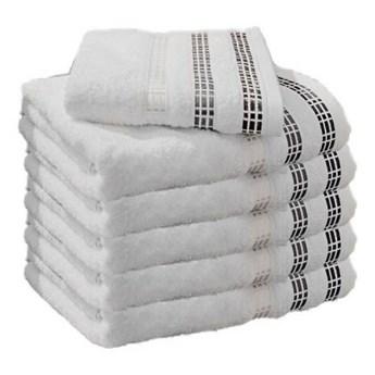 Ręcznik frotte LUX biały 100% bawełna 50x90 cm