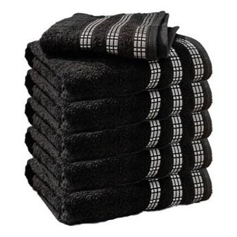 Ręcznik frotte LUX czarny 100% bawełna 50x90 cm