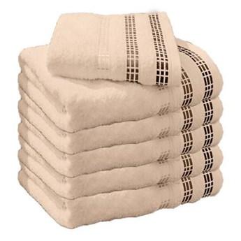 Ręcznik frotte LUX beżowy 100% bawełna 50x90 cm