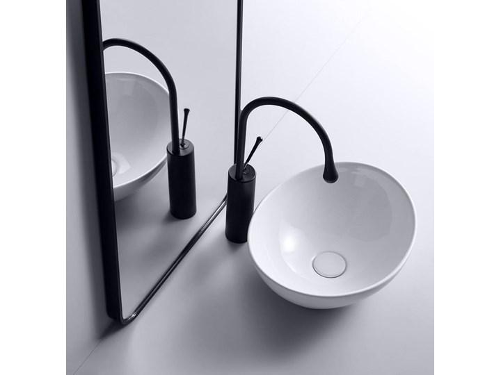 VELDMAN  UMYWALKA CERAMICZNA NABLATOWA VERA Szerokość 41 cm Ceramika Owalne Szerokość 45 cm Meblowe Nablatowe Kategoria Umywalki