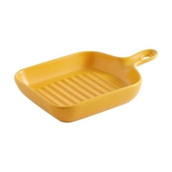 Naczynie Do Zapiekania żółte Kwadratowe