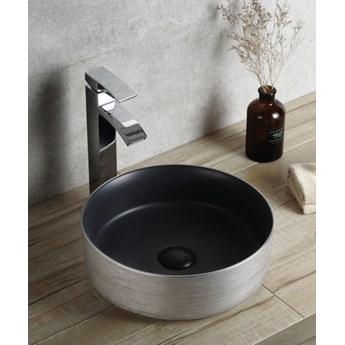 Umywalka Ceramiczna Nablatowa Srebrno-czarna