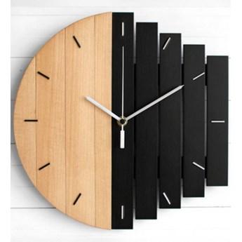 Zegar ścienny Drewniany Okrągły Brązowo-czarny