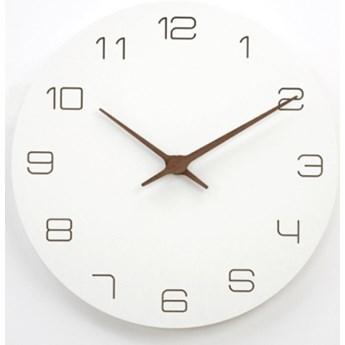 Zegar ścienny Klasyczny Drewniany Okrągły Biały