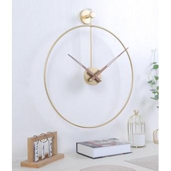 Zegar ścienny Metalowy Złoty Duży Okrągły Loft